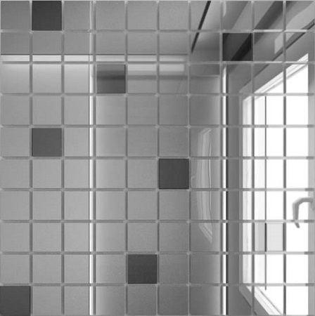 Мозаика зеркальная Серебро + Графит С90Г10 Мозаика<br><br>